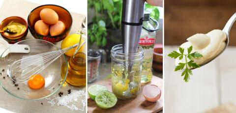 Stap voor stap recept om mayonaise te maken met de staafmixer