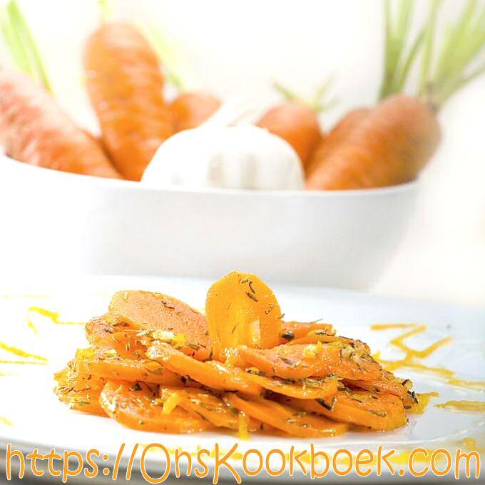 Gestoofde wortelen