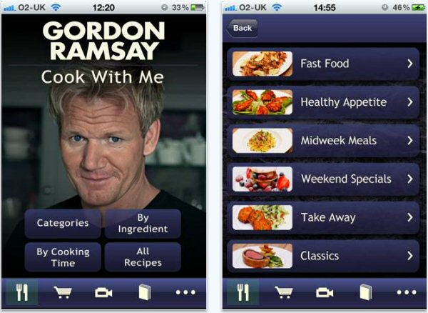 Gordon Ramsay kookt op je Iphone