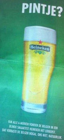 Is Heineken het beste bier van Belgie?
