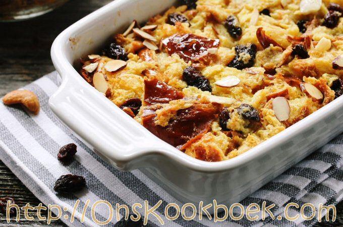 Broodpudding, Alles bij elkaar: mengen, bakken… klaar!