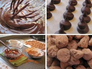 Stap voor stap recept om chocolade truffels te maken