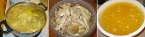 Zelf kippenbouillon maken in een pot met groentebouillon