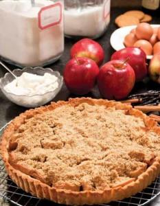 Appeltaart recept met kruimeldeeg van Jeroen Meus uit het kookboek Dagelijkse Kost 3