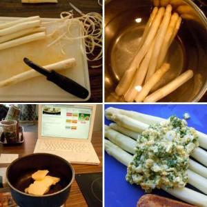 Stap voor stap recept om asperges te koken en te serveren op Vlaamse wijze met boter, eieren en peterselie