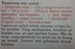 Kippensoep recept van Ons Kookboek van het KVLV, aangepast door Jeroen Meus