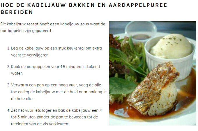 Kabeljauw bakken: lekker in de pan of 10 minuten in de oven à la Pascale Naessens